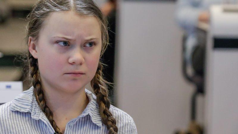 Greta Thunberg sguardo