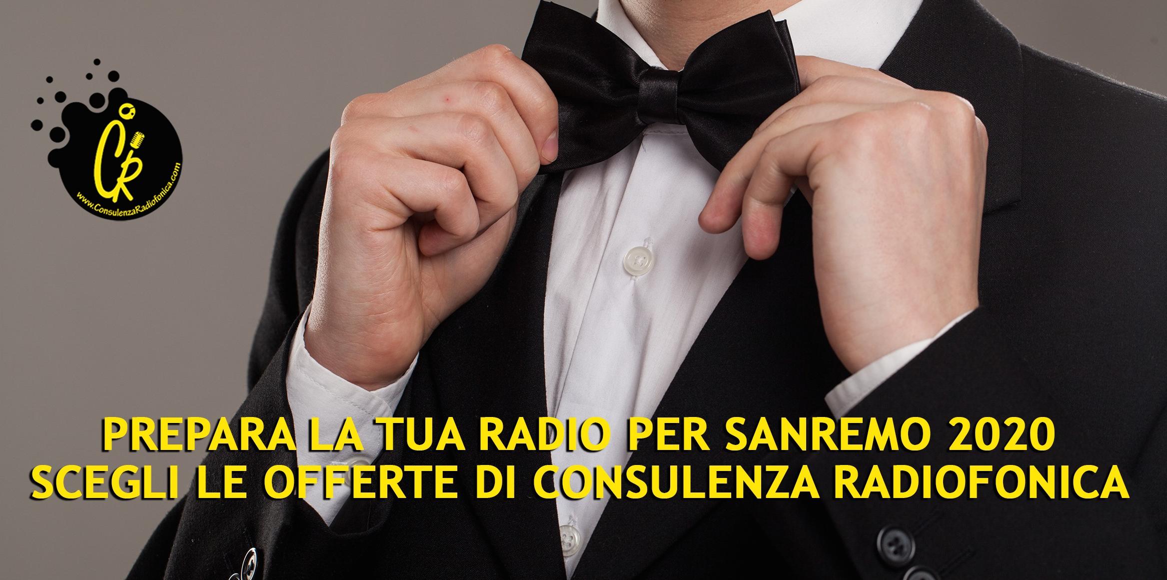 Festival di Sanremo 2020 offerta Consulenza Radiofonica