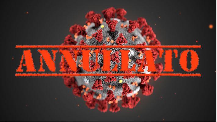 Coronavirus evento annullato