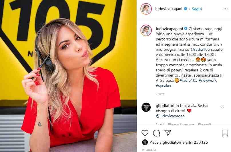 Ludovica Pagani social influencer