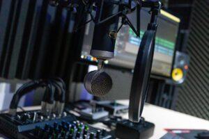 microfono della radio